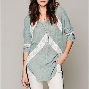 Free People We The Free Flying V Hacci Sweater